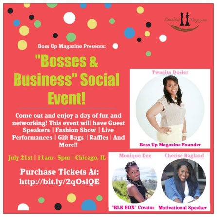 """Bosses & Business"" Social Event"